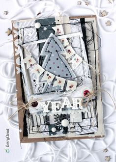 Задание № 89 Новогодняя открытка с флажками