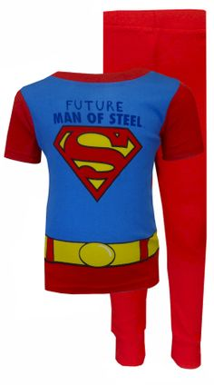 DC Comics Superman Future Man Of Steel Toddler Pajama Plan ahead for the safety of the planet! Featuring the classic Superman l...