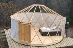 An adorable 133 sq ft yurt from Canadian company, Yurta.