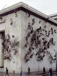 Installation: Doris Salcedo in Bogota, Columbia.