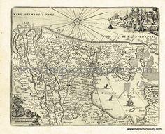 Antique-Map-Holland-Netherlands-Amsterdam-Rotterdam-Utrecht-1725