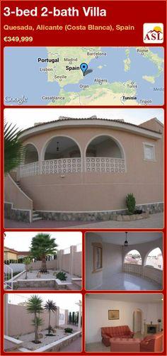 3-bed 2-bath Villa in Quesada, Alicante (Costa Blanca), Spain ►€349,999 #PropertyForSaleInSpain