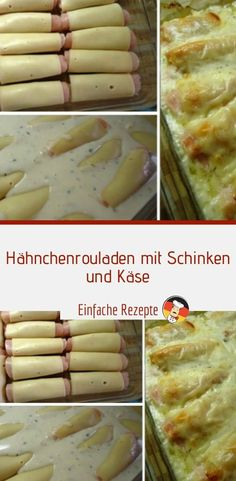 Chicken roulades with ham and cheese Sprainnews # lunch . Coffee Mousse, Clean Eating, Healthy Eating, Good Food, Yummy Food, Recipe Organization, Ham And Cheese, Nutrition Program, Eating Habits