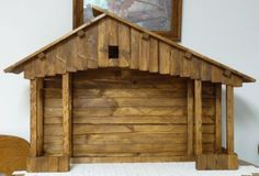 Details about Handmade Christmas Nativity Stables Large-Handmade-Nativity-Stable Outdoor Nativity Scene, Nativity Stable, Nativity Creche, Nativity Sets, Christmas Manger, Christmas Nativity Scene, Rustic Christmas, Handmade Christmas, Christmas Projects