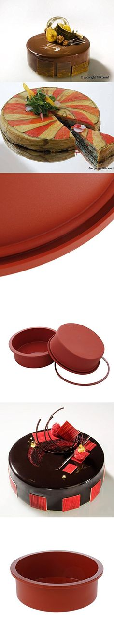 9 Round Silicone Cake Mold Pan 9 Round x 2 1//4 deep - Colors May Vary