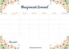 Planner Semanal Grátis para baixar ( jpeg)