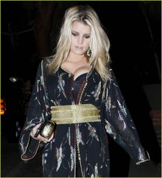 Jessica Simpson in traditional moroccon dress