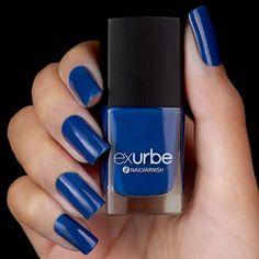 exurbe cosmetics veganer Nagellack Blue Monday in Königsblau Mascara, Nail Art Designs, Blue Grey, Alcohol, Nail Polish, Cosmetics, Nails, Rivers, Beauty