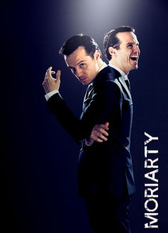 Moriarty~ A scary man; I don't know why I like him so, but I do.  .. Perhaps it is solely the talents of Andrew Scott.