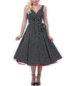 Black & White Dottie Swing Dress