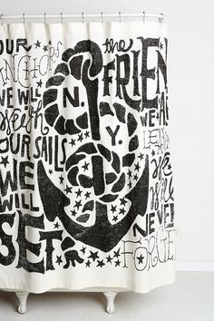 Jon Contino Anchors Aweigh Shower Curtain