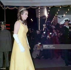 Princess Anne attends a film premiere of 'Anne of a Thousand Days' at the Odeon Cinema in Leicester Square, London on 23rd February 1970. This image is one of a series taken by Ray Bellisario who was credited with being the 'original paparazzo' and someone who frequently upset the Royal Family with his informal and often unwelcome style of photography.