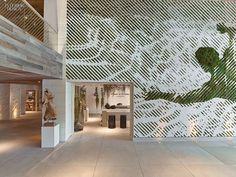 1 Hotel's Miami Beach Debut by Meyer Davis Studio | Entryway to the shop. #interiordesign #interiordesignmagazine #hotels #hospitality #entries #MeyerDavisStudio