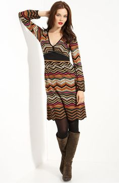 Missoni Zigzag Print Knit Dress, Nordstrom.com, $795 - Via Slapdash Sewist.    I'd love to buy about 2.5 yds of a Missoni knit...I have a dress pattern that would make up beautifully in this fabric.