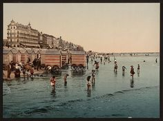 The beach and the sea, Blankenberghe, Belgium, 1890s  The Library of Congress