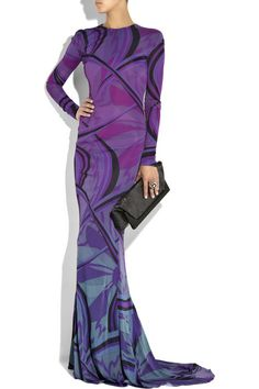 Emilio Pucci Printed jersey fishtail gown