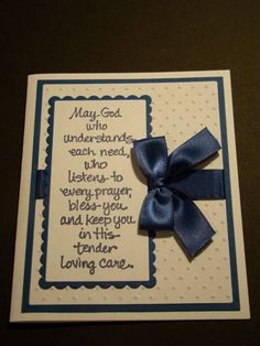 Handmade God Bless Greeting Card You Choose Colors | eBay
