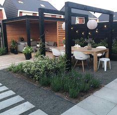 Outdoor Pergola, Outdoor Spaces, Outdoor Living, Outdoor Decor, Backyard Patio Designs, Backyard Landscaping, Outdoor Gardens, Back Gardens, Garden Design