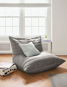 The Levi lounge chair encourages a fun, modern reading or gaming spot for kids or teens. Easy to move around the room and made to mold to whoever is sitting in it, Levi features a channeled design and durable construction.