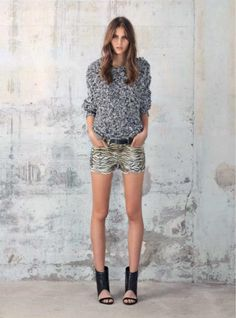 animal prints-shorts IRO