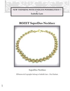 ROZET SuperDuo Beadwork Necklace Pdf tutorial instructions for