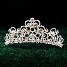 Remedios Boutique Silver Plated Alloy Rhinestone Bridal Wedding Tiara 0125
