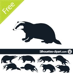badger vector silhouette | silhouettes clipart