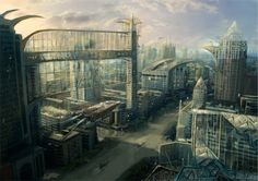 Glass Prison Sci fi city by GutsBerserk.deviantart.com on @deviantART
