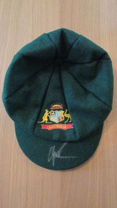 Shane Warne Signed Australia Cricket Baggy Green Cap (Proof & Coa)