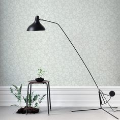The wallpaper Rost Ljus Rosa - from Sandberg is wallpaper with the dimensions m x m. The wallpaper Rost Ljus Rosa - belongs to the popul Decor, Lamp, Desk Lamp, Light Grey, Home Decor, Green Wallpaper, Room Colors, Light, Wall Coverings