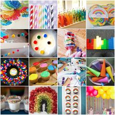 Party Ideas for Kids | Rainbow Party Inspiration: 20 Colorful Ideas for Kids' Birthday ... Rainbow Theme, Rainbow Birthday Party, Rainbow Parties, Birthday Fun, Birthday Party Themes, Birthday Ideas, Rainbow Stuff, Rainbow Food, Rainbow Dash