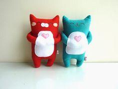 Cat Plush, Cat Softy, Stuffed Animal - Kitty Chilli. $27.00, via Etsy.