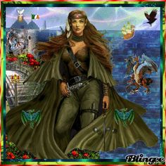 BOUDICCA CELTIC WARRIOR QUEEN; HAPPY ST. PATRICK'S DAY; WOMAN'S DAY