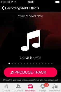 swipe to add instagram style audio filters