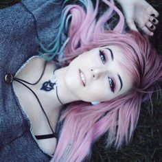"""21k Likes, 71 Comments - ➕ The Rogue + The Wolf ➕ (@rogueandwolf) on Instagram: """"We love this gorge pastel witch in our 'Amulet of Possession' choker!  @piercethealex ❤ Which R+W…"""""""