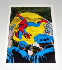 1970's Marvel Comics Amazing Spider-man 70 cover art poster pin-up by John Romita Sr: Vintage original 1978 Marvel comic book poster pinup. 1000's more scarce Marvel and DC Comics posters and artwork at SUPERVATOR.COM