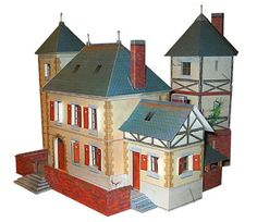 Normandy House Free Building Paper Model Download - http://www.papercraftsquare.com/normandy-house-free-building-paper-model-download.html#BuildingPaperModel, #House