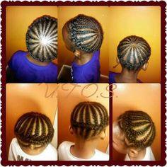 Halo Braids on Natural Hair