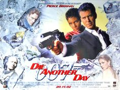 Pierce Brosnan, Halle Berry, Rosamund Pike, Toby Stephens, and Rick Yune in Die Another Day James Bond Movie Posters, James Bond Movies, Cinema Posters, Roger Moore, Sean Connery, Tim Burton, Rick Yune, David Arnold, Films Western