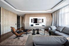 дневник дизайнера: Футуристичный интерьер квартиры от Geometrix Design в Москве