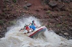 I'm the king of the world!    Green River Rafting through Desolation Canyon.  New rapid - Cow Swim.