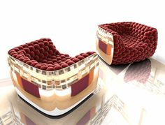Armchair with shiny scratch-resistant ABS structure, the spheres that provide the cushioning of the seat and the back are covered individually. The internal structure is welded steel. Available colors red black mauve, coordinated on request. Design Carlo Colombo for BYografia Bookmark on Delicious Digg this post Recommend on Facebook share via Reddit...Continue Reading