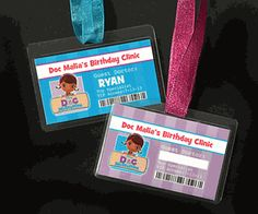 This is so adorable Personalized Birthday Party ID Badge Lanyard Favors