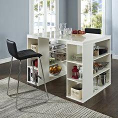 Belham Living Sullivan Counter Height Desk - Vanilla - Desks at Hayneedle & Ashley Desk Height Stool | Products | Pinterest | Desks ... islam-shia.org