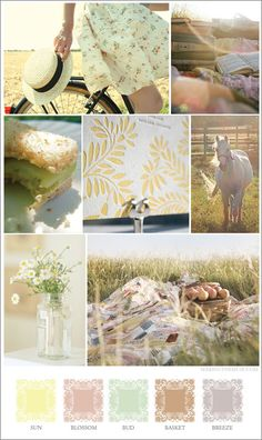6-94-days-of-summer, Color Moodboard , Inspiration for Choosing Color Combinations for Art Projects, Interior Design, Color Schemes, Color Combos with Color Moodboards  Color Swatch