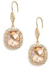 peach sparkle earrings