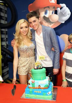 See Fun Pics of the Most Stylish Celebs at Peyton List's Sweet 16   Twist peyton looks so pretty and her brother looks wow stunning