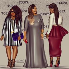 """""""Commision for @tobs_ogundipe!! Babe of life. Best plus size line in Nigeria! #tosfa"""""""