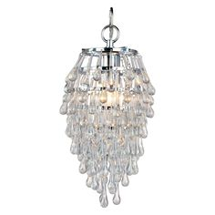 Have to have it. Spano Crystal Teardrop Mini Chandelier - 7W in. - $ @hayneedle.com