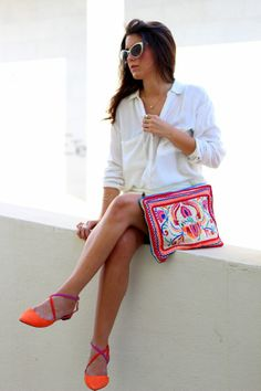 www.crazyclosetblog.com total white, street style, outfit, ootd, zara, colorful, summer